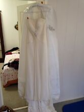 Sz12 pure silk chiffon wedding dress Fremantle Fremantle Area Preview