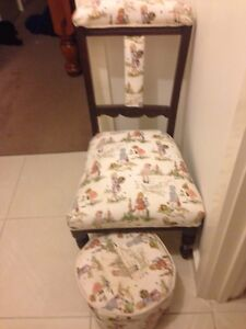 Child's chair & foot stool &doll$50 for both Brown Hill Ballarat City Preview