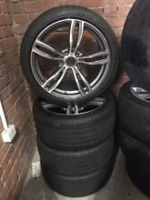 """BMW 5 series 19"""" aftermarket wheels and tyres South Melbourne Port Phillip Preview"""