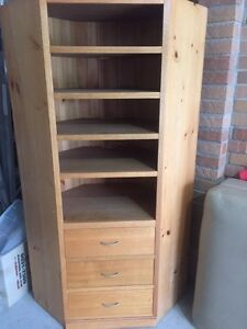 Wooden corner storage wall draws Buff Point Wyong Area Preview