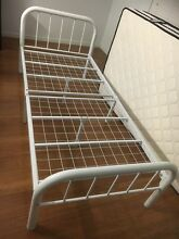 White metal single bed frame Glenwood Blacktown Area Preview