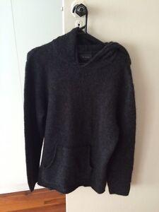 Men's mohair wool charcoal hooded jumper Nique Elizabeth Bay Inner Sydney Preview