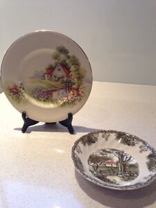 Vintage Royal Winton Grimwades picture plate and Johnson Bros dish Brisbane City Brisbane North West Preview