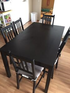 IKEA dinning table with 6 chairs Westmead Parramatta Area Preview