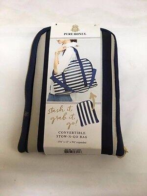 Convertible Stow'N'Go Green Plaid Bag - PURE HONEY