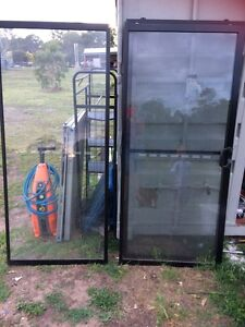 New black Sliding door with fly screen & frame North Tivoli Ipswich City Preview