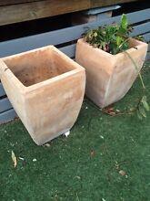3 x large matching terracotta pots Lambton Newcastle Area Preview