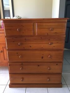 Wooden Tallboy & Matching bedsides Yamanto Ipswich City Preview