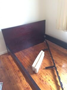 Brown double bed frame Bankstown Bankstown Area Preview