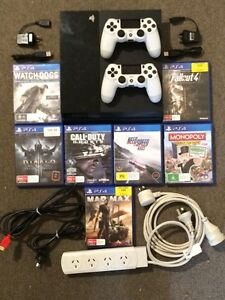 PS4 500gb with 2 controllers and 7 games Morley Bayswater Area Preview