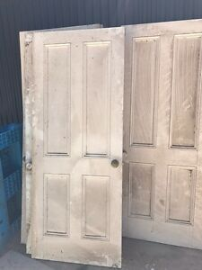 Solid Timber 4-panel internal doors - qty 4 Willyaroo Alexandrina Area Preview