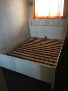 Queen Size Bed - white Crows Nest North Sydney Area Preview