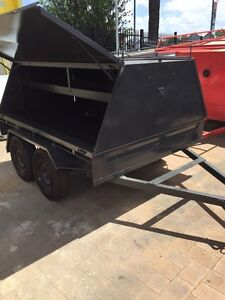 8 x 6 Tandem Tradesmen Trailer with Good Tyres, Gas Struts & Rego Gosnells Gosnells Area Preview