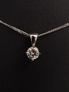 0.34ct Round Brilliant Diamond Pendant Newcastle East Newcastle Area Preview