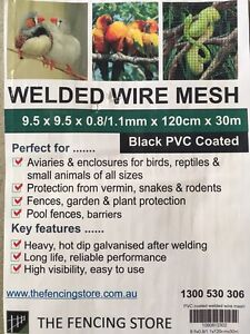 Welded wire mesh black pvc coated Bexley North Rockdale Area Preview