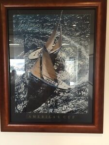 Framed print America's Cup North Sydney North Sydney Area Preview