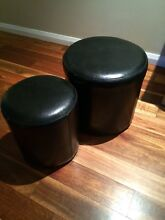 Brown leather Ottoman set St Leonards Willoughby Area Preview