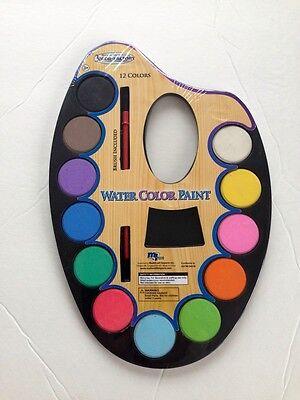 Water Color Set (12 COLORS WATER COLOR PAINT SET--BRUSH)
