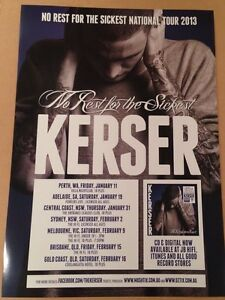 Kerser 2013 Official Tour Poster Wiley Park Canterbury Area Preview