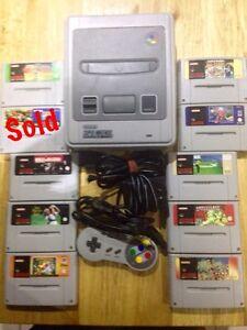 Super Nintendo Console & 9 Games Casula Liverpool Area Preview