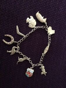 Vintage Sterling Silver Australiana Charm Bracelete Charlestown Lake Macquarie Area Preview