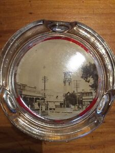 Vintage glass souvenir ashtray of Stanthorpe Yatala Gold Coast North Preview