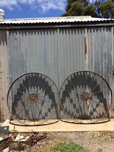 Antique Iron Wheels - Rustic Vintage Farm Heritage - lots to choose Truro Mid Murray Preview