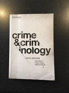 Crime and criminology 5th edition Belgrave Yarra Ranges Preview