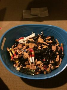 A Very Large bundle of 75 used WWE Figures With 18 Belts Churchill Ipswich City Preview