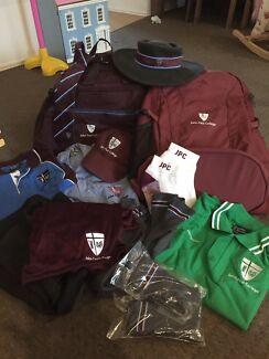 John Paul College Uniform bag hats as new!!!  JPC Will separate
