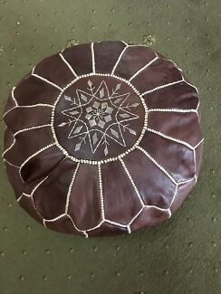 Moroccan leather Ottoman  Warwick Southern Downs Preview