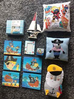 Pirate nautical children's decor bundle