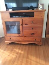 TV stereo cabinet - slide out shelf for turntable Carrum Downs Frankston Area Preview