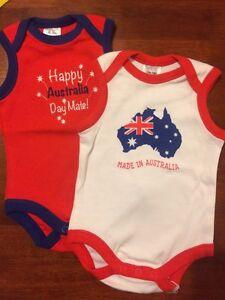 Newborn Australia Day sleeveless bodysuit size 0000 Gordon Tuggeranong Preview