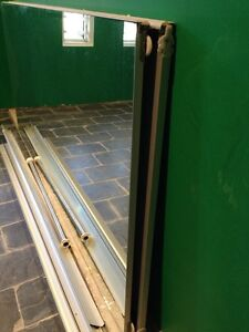 Mirror wardrobe sliding doors+tracks Avalon Pittwater Area Preview