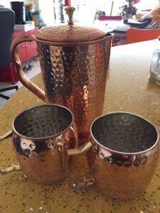 Copper drinking set. Rivervale Belmont Area Preview