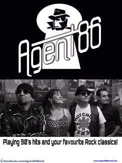 Agent86 rock cover band  - Hire for events, parties, venues.