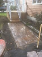 Patio and landscape work