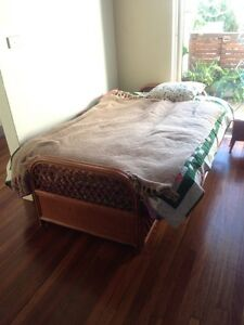 Retro cane sofa bed bamboo furniture Kogarah Rockdale Area Preview