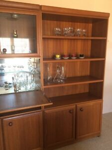 Chiswell, retro vintage entertainment unit/bookcase Rozelle Leichhardt Area Preview