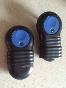 Merlin Garage Door Remote Control Transmitters x 2 Coburg Moreland Area Preview