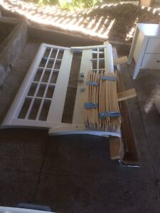 FREE Queen bed frame, mattress and bedside locker table Norman Park Brisbane South East Preview