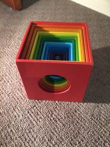 Rainbow stacking/nesting vubes Merewether Newcastle Area Preview