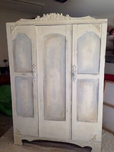 Antique vintage shabby chic style wardrobe armoir Robina Gold Coast South Preview