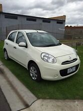 Nissan Micra 5door hatch Manual 2014 Pearl White 1.2lt Reg & RWC Mordialloc Kingston Area Preview