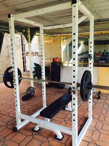 Muscle Motion Power Rack / Flat bench Hebersham Blacktown Area Preview