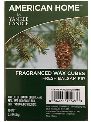 American Home by Yankee Candle Fragranced Wax Cubes FRESH BALSAM FIr wax melts
