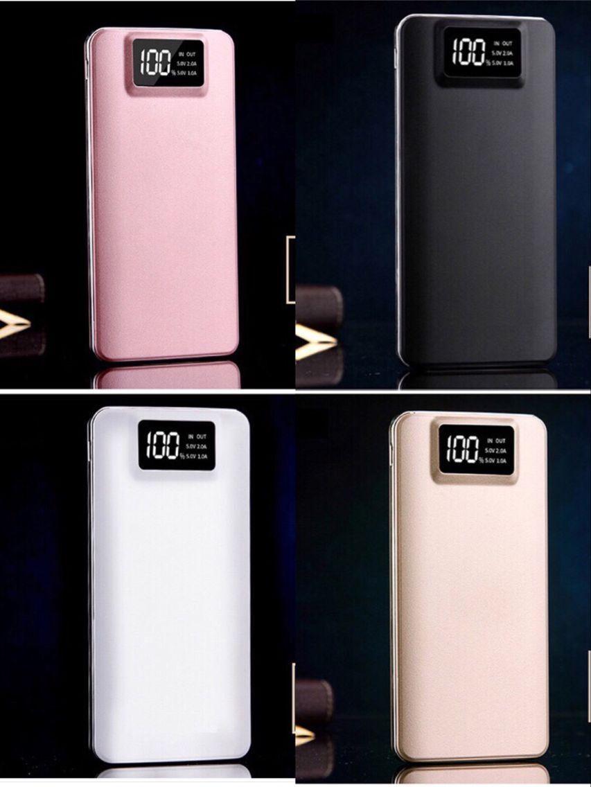 Portable 50000mAh LCD Power Bank External 2 USB Battery Char