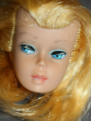 VINTAGE 1964 BARBIE SWIRL PONYTAIL  #850 BLOND HEAD ONLY--HAIR LOOKS CUT