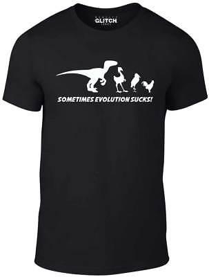 Evolution Sucks t shirt - Funny t-shirt Darwin Theory retro Dinosaur birds comic